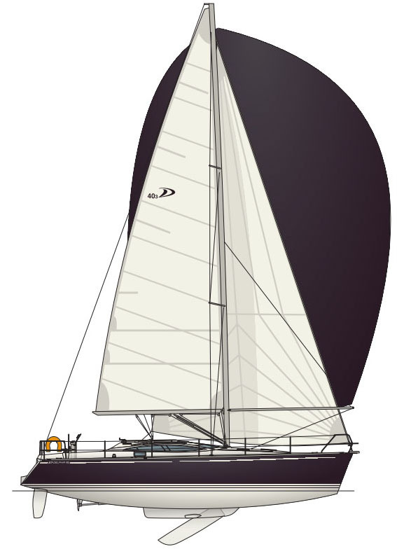 Photo Delphia 40.3 Plan de voile